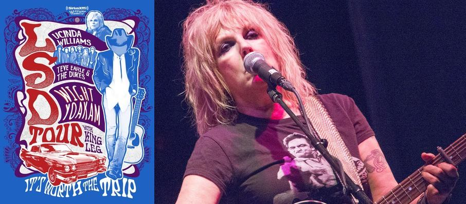 Lucinda Williams with Steve Earle and Dwight Yoakam at Chastain Park Amphitheatre