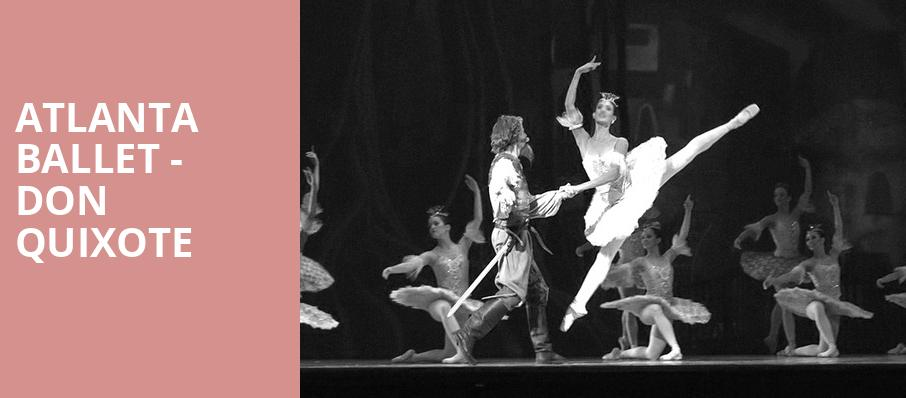 Atlanta Ballet Don Quixote, Cobb Energy Performing Arts Centre, Atlanta
