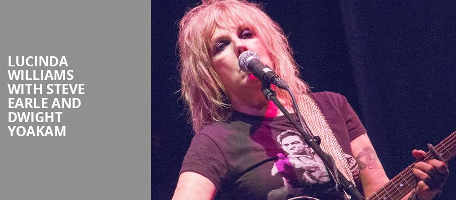 Lucinda Williams with Steve Earle and Dwight Yoakam, Chastain Park Amphitheatre, Atlanta