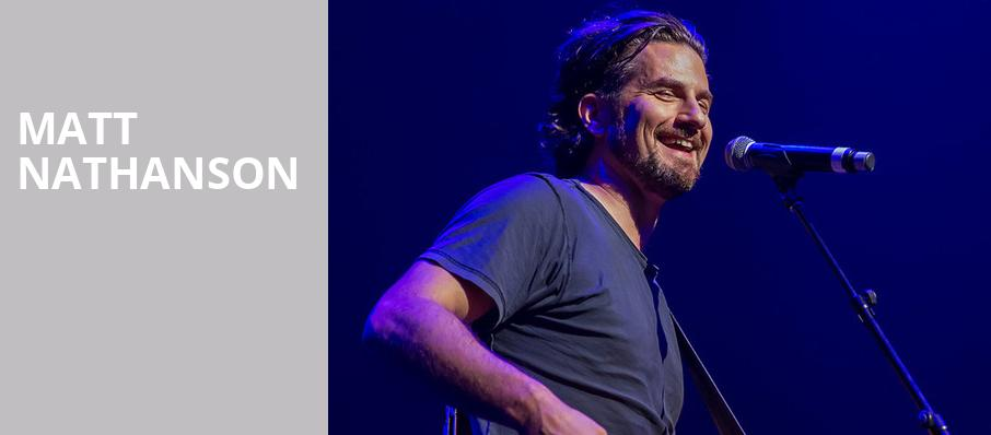 Matt Nathanson, Terminal West, Atlanta