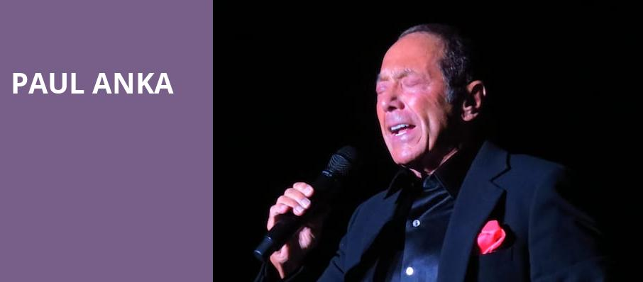 Paul Anka, Atlanta Symphony Hall, Atlanta