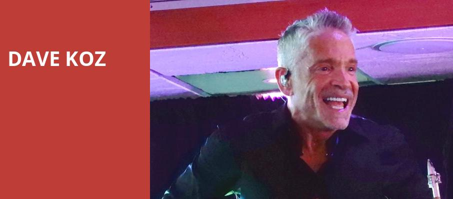 Dave Koz, Cobb Energy Performing Arts Centre, Atlanta