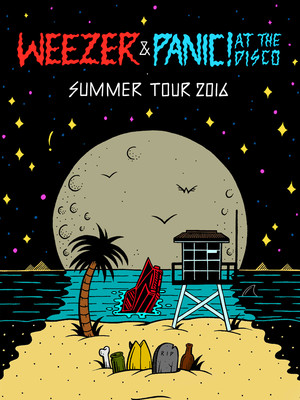 Weezer & Panic! At The Disco Poster